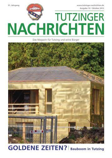 Download Heft 10 / Oktober 2013 - Tutzinger Nachrichten