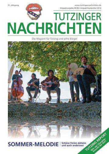 Download Heft 08-09 / August-Sept. 2013 - Tutzinger Nachrichten