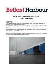 View Brochure - Belfast Harbour
