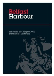 Schedule of Charges 2012 - Belfast Harbour