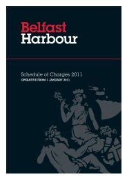 Schedule of Charges 2011 - Belfast Harbour