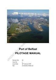 Pilotage Manual - Belfast Harbour