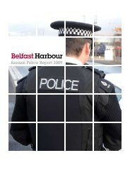 Annual Police Report 2009 - Belfast Harbour