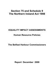 Section 75 and Schedule 9 - Belfast Harbour