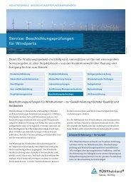 Beschichtungstechnologie - TÜV Rheinland