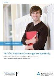 Mit TÜV Rheinland zum Ingenieurabschluss. - Tuv
