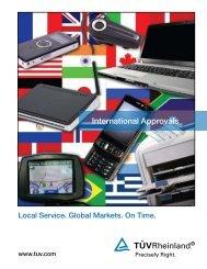 International Approvals Brochure - Tuv