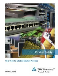 Product Safety Brochure - Tuv