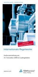 Internationale Regelwerke - Tuv