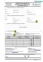 Antrag für die Zertifizierung von ZfP-Personal - Tuv