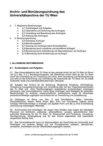 Archiv - Technische Universität Wien