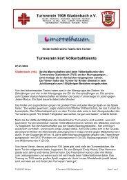 Protokoll der Vorstandsitzung am 17 - Turnverein 1908 Gladenbach ...
