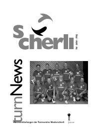 Vereinsmitteilungen der Turnvereine Niederscherli 2008 1 Januar