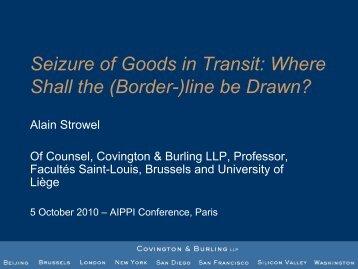 Seizure of Goods in Transit - AIPPI