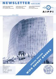 Special Edition of AIPPI Newsletter on WIPO Patent Agenda