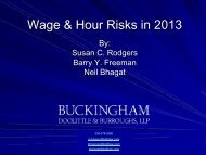 Wage & Hour Risks in 2013
