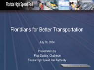 Presentation on High Speed Rail by Fred Dudley - Floridians for ...