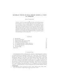 ALGEBRAIC POINTS OF SMALL HEIGHT MISSING A UNION OF ...