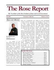 The Rose Report - Claremont McKenna College