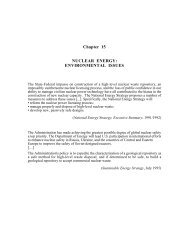 Chapter 15 NUCLEAR ENERGY: ENVIRONMENTAL ISSUES