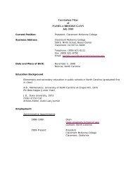 Curriculum Vitae of PAMELA BROOKS GANN July 2010
