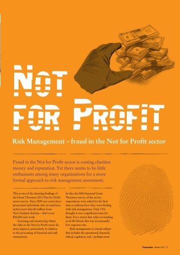 Risk Management – fraud in the Not for Profit sector - Grant Thornton