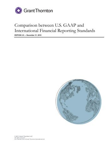 comparing ifrs to gaap 1 locally vs globally as mentioned, the ifrs is a globally accepted standard for accounting, and is used in more than 110 countries on the other hand, gaap is exclusively used within the united states and has a different set of rules for accounting than most of the world.