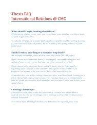 Thesis FAQ International Relations @ CMC