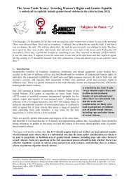 Joint Policy Paper on Gender and the Arms Trade ... - PeaceWomen