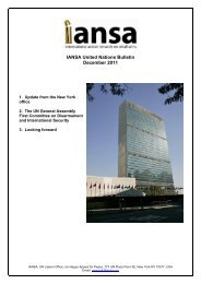 IANSA United Nations Bulletin December 2011 – 2. The UN