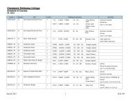 Printable Schedule - FALL 2013 CMC and KS Offerings