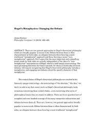 Hegel's Metaphysics: Changing the Debate - Claremont McKenna ...