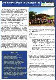 Community & Regional Development - Morobe Mining Joint Venture