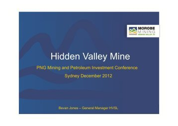 Hidden Valley Mine - Morobe Mining Joint Venture