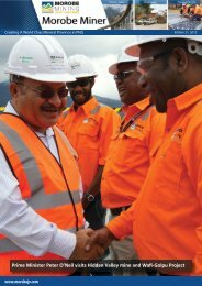 Morobe Miner Edition 21.indd - Morobe Mining Joint Venture