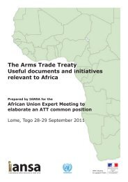 The Arms Trade Treaty: Useful documents and initiatives ... - IANSA