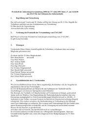 Protokoll JHV 2008 - TV-Sinn