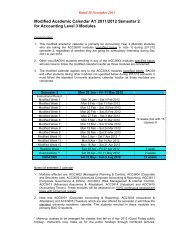 Modified Academic Calendar AY 2011/2012 Semester ... - NUS - BBA