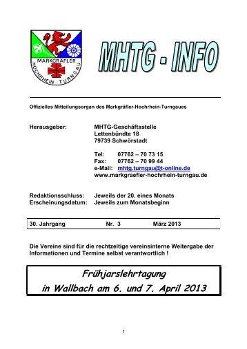 Info März 2013 - beim Turnverein Rheinheim eV