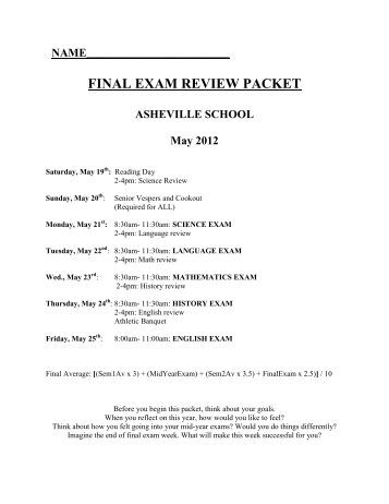 7th grade science final exam review