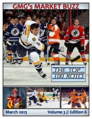 Download the March 2013 edition right here. - Dobber Hockey - The ...