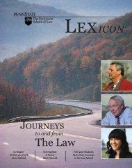 Winter 2013 issue - Penn State Law - Penn State University