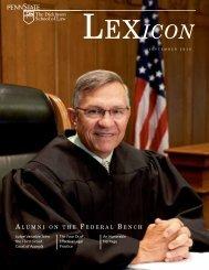 A LUMNI ON THE F EDERAL B ENCH - Penn State Law - Penn ...