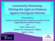 Shining the Light on Violence Against Immigrant ... - Penn State Law