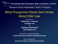 What Prospective Clients Don't Know About Elder ... - Penn State Law