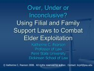 Over, Under or Inconclusive? - Penn State Law - Penn State University