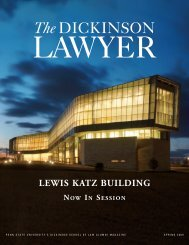 Spring 2009 Issue - Penn State Law - Penn State University