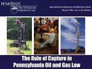 The Rule of Capture in Pennsylvania Oil and Gas ... - Penn State Law