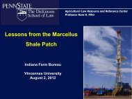 Lessons from the Marcellus Shale Patch - Penn State Law