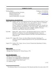 Curriculum Vitae - Penn State Law